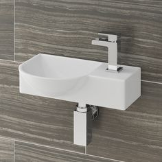 Shop the Valencia 400mm mini wall hung ceramic basin online. A great option if you need to save space in a smaller setting. Now at Victorian Plumbing.