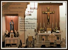Jesus, may Your Cross defend me  Your Mother's prayer befriend me... #Catholic #LatinMass