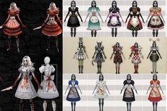 Plusieurs robe d'Alice madness returns !! Que vous découvrirez au fil de l'aventure !!^^
