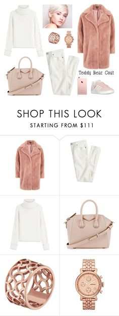 """""""Unbenannt #123"""" by jazzie-i ❤ liked on Polyvore featuring Topshop, J.Crew, Karl Lagerfeld, Givenchy, Tartesia, FOSSIL, adidas and teddybearcoats"""