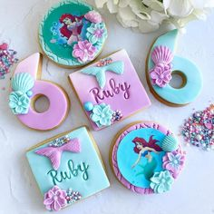 IG: @blush_bakes_x Mermaid Under The Sea, The Little Mermaid, Mermaid Kisses, Blush, Little Things Quotes, Cookies, Themed Cakes, Plymouth, Starfish