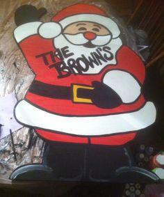 waving Santa Personalized Yard art