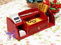 Dollhouse Miniature 1:12 Toy A wooden cashier desk L6.8cm F4766B   eBay