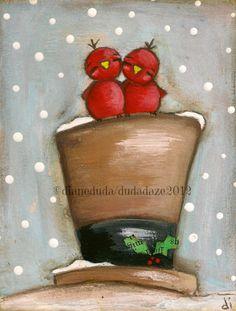 PRINT Of my original folk art painting This Will Do por DUDADAZE