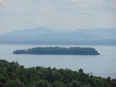 """A view of Juniper Island, one of the Champlain Islands are part of what's known as the """"West Coast of New England"""". Burlington Vermont #btv"""