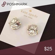 Kate Spade Earrings New Kate Spade Large Earrings   Color: Clear/Gold Plated   New with tags  PRICE IS FIRM   No trades. kate spade Jewelry Earrings