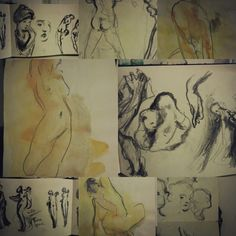 from the sketchbook. Drawing Tips, Sketchbooks, Journals, Sculptures, Sketches, Drawings, Artwork, Work Of Art, Auguste Rodin Artwork