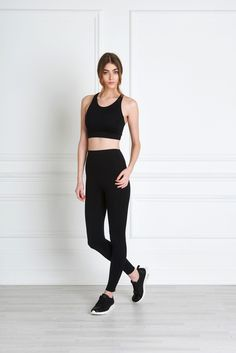Giselle Leggings - From the studio to the streets, the Giselle Leggings look luscious from every angle. A singular piece of strong, firm material bands across the stomach, while bonded piping detail and silky soft, non-toxic material hide any unsightly lines of the female form. With high quality zippers on the ankles and a high waistline designed to flatten the stomach, these leggings are nothing shy of a miracle.