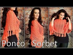 Háčkované pončo - Sorbet/Crocheted Poncho - Sorbet (english subtitles) - YouTube Sorbet, Crochet, Dreadlocks, English, Hair Styles, Youtube, Beauty, Ponchos, Hair Plait Styles