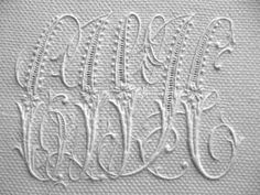 Spectacular vintage monogram.