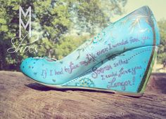 Your favorite quote on your wedding shoes!