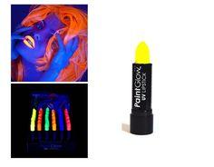 Rouges à lèvres - PaintGlow - UV fluorescents - Néon Jaune - 14 Grs: Amazon.fr: Beauté et Parfum