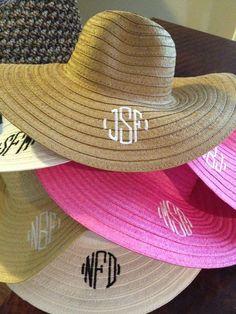 Monogrammed Sun Hats