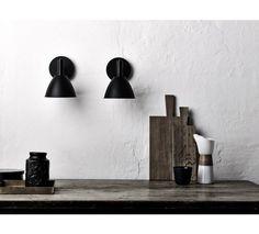 lumini Bauhaus Væglampe - Sort - Bauhaus væglampe i sort