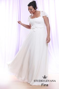Plus size wedding gown White collection  (29)