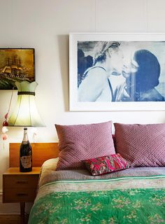 beijos na cabeceira - Plant of the apes Bedroom! Home of Sarah Murphy, Matthew McCaughey as seen on The Design Files Room Inspiration, Interior Inspiration, Home Bedroom, Bedroom Decor, Australian Homes, The Design Files, Bedroom Vintage, Beautiful Bedrooms, Interiores Design