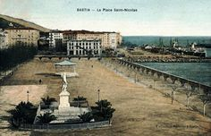 1911 La Place Saint Nicolas (Vue de la rue Miot) (Construction du Cyrnos Palace)