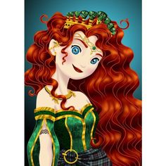 Royal Jewels MERIDA by MissMikopete ❤ liked on Polyvore featuring disney, brave, backgrounds, characters and merida