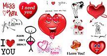 Tudo para seus entes queridos.  De flirty a ferida, você vai encontrar um deslumbrante conjunto de símbolos de coração, citações, sinais do amor, e muito mais!