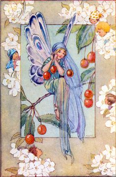 March House Books Blog: A pair of magic ear-rings...Margaret Tarrant- A pair of magic ear-rings were growing on a tree, and someone picked the ear-rings, as all the world could see, a pair of cherry ear-rings, as magic as could be!