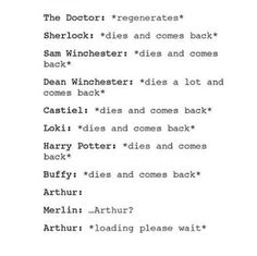 Tho it's a little different with Sherlock because he didn't actually die, as opposed to the SPN ones who have been quite literally murdered several times over.