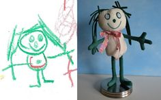 How cool is this! Toys based on children's drawings.