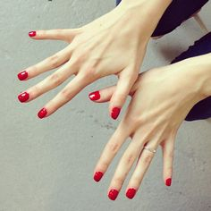 The color of choice for our first Fashion Week presentation: Big Apple Red by OPI