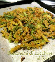 Spelucchino: Bastoncini di zucchine al forno