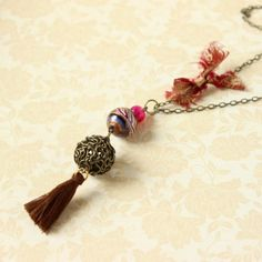 Tassel Boho Necklace!