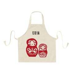 Printed Children's Personalised Aprons by 3 Blonde Bears, the perfect gift for Explore more unique gifts in our curated marketplace. Personalized Aprons, Baking Set, Kids Seating, Blue Gift, Plastic Sheets, Gift Tags, Screen Printing, Unique Gifts, Gift Wrapping