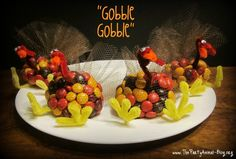 holiday, party favors, party animals, thanksgiving turkey, candi