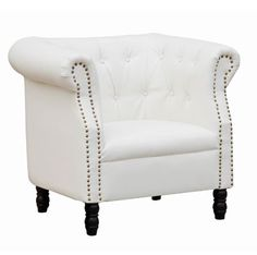 Chester Leather Chair - White