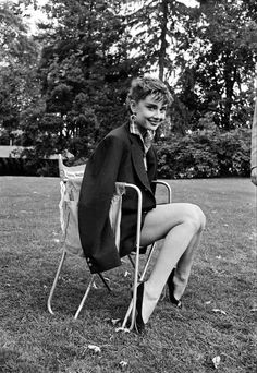 Audrey Hepburn by Dennis Stock during the filming of Sabrina, Long Island, New York, 1954