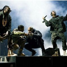 2 Chainz, Big Sean, Kanye West, and Travi$ Scott