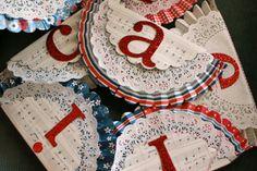 America Banner Letters America Banner