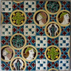 """Not to sure who made this beautiful 6""""x 6"""" tile could be Godwin c1890/00"""