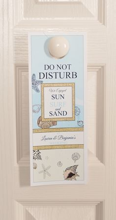 Beach Seashore Custom Door Hangers - Wedding Favors | LabelsRus