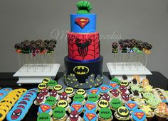Superheroes Cake and Toy Story Cupcakes and cookies | by Mily'sCupcakes