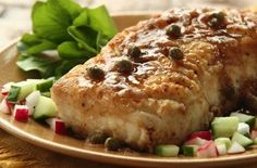 Check out this savory recipe for seared halibut w/buttery cream sauce infused w/wine, & topped w/capers. Your taste buds won't know how to thank you enough!