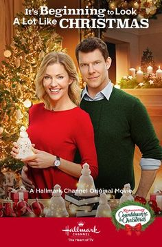Its a Wonderful Movie - Your Guide to Family and Christmas Movies on TV: It's Beginning to Look A Lot Like Christmas - a Hallmark Channel Countdown to Christmas Movie starring Eric Mabius and Tricia Helfer! Family Christmas Movies, Hallmark Christmas Movies, Hallmark Movies, Holiday Movies, Family Movies, Eric Mabius, Christmas In England, Tricia Helfer, Netflix
