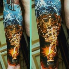 Very cool tattoo- IDK if I would get it but its a very cool and uniqe electric tattoo non-the-less Myttoos Tattoos