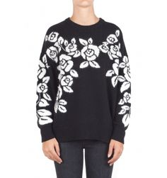 Aniye By - Sweater - 300517 - Black - 169,00 € Jacquard wool knit sweater.Contrasting roses and sleeves.Round neckline.Long sleeve.Ribbed profiles on the neck, cuffs and hem.Wide fit.Fabric Composition: 37% viscose, 30% polyamide, 24% wool, 5% cashmere, 4% angora.Made in Italy.The model wears the XS size and is 175 cm high.