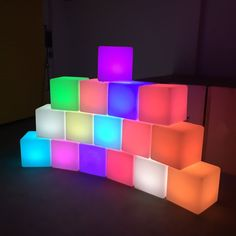 Go Waterproof Rechargeable LED Colorchanging Light Cube 8 Dimmable Soothing Mood Lamp w/ Remote Ideal for Home Patio Party Accent Ambient and Decorative Lighting Diy Halloween Decorations, Light Decorations, Bad Room Ideas, Mood Lamps, Led Furniture, Lamp Design, Potpourri, Lava Lamp, Table Lamp