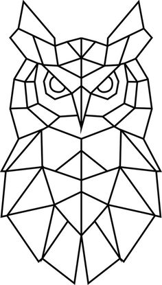 Geometric Drawing, Geometric Art, Geometric Animal, Cubism Art, String Art Patterns, Owl Print, Animal Sketches, Barn Quilts, Chalk Art