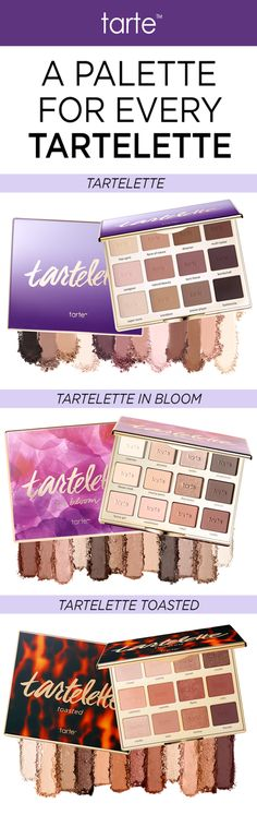 Our #tartelette family just got bigger with our NEW #tartelettetoasted eyeshadow palette! Powered by Amazonian clay, the formula glides on like a cream, providing longwearing, intense payoff that's never chalky or patchy! #tartecosmetics #tartelette #slaywithclay #eyeshadow
