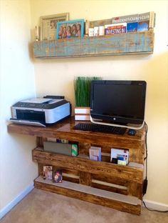 Computer Desk - DIY Upcycled Pallet Desk Ideas | Pallets Designs
