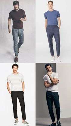 Men's Trousers and T-Shirts Outfit Inspiration Lookbook