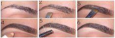 Коррекция формы бровей макияжем