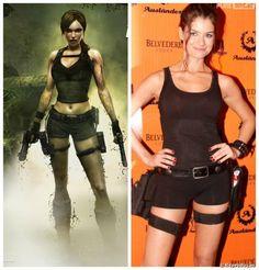 """A diva dos Games não pode ficar de fora do carnaval 2014! Até Alinne Moraes já se rendeu ao look de Lara Croft, de """"Tomb Raider""""."""