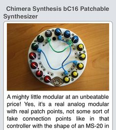 Chimera synthesis bc16 patchable synthesizer definition